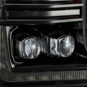AlphaRex 18-19 Ford F150 NOVA-Series LED Projector Headlights Midnight Black