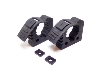 "Rubber Quick Fist Clamp, Pair - 1"" to 2.25"" Diameter"