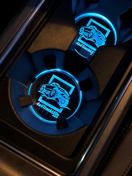 4x4TruckLEDs.com Acrylic Cup Holder Inserts for 2017+ Ford Raptor/Super Duty