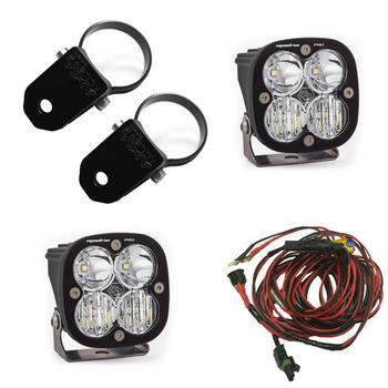 "Baja Designs Squadron Pro, Kit (Lights, A Pillar Mounts 2"", Harness)"