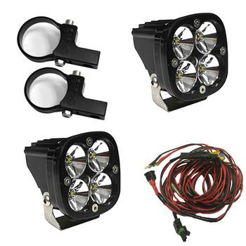 "Baja Designs Squadron Pro, Kit (Lights, Horiz Mounts 2"", Harness)"