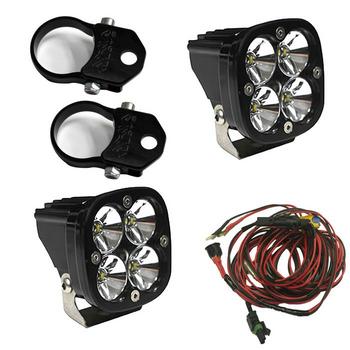 "Baja Designs Squadron Pro, Kit (Lights, Vertical Mounts 2"", Harness)"