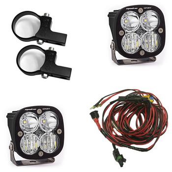 "Baja Designs Squadron Sport, Kit (Lights, Horiz Mounts 2"", Harness)"