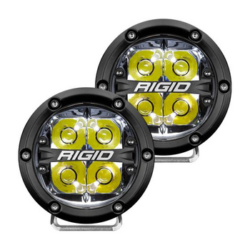 "Rigid Industries 360-Series, 4"" Pair, Spot (White Backlight)"