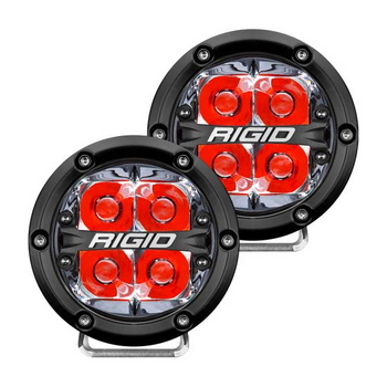 "Rigid Industries 360-Series, 4"" Pair, Spot (Red Backlight)"