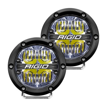 "Rigid Industries 360-Series, 4"" Pair, Drive (White Backlight)"
