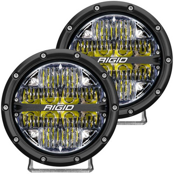 "Rigid Industries 360-Series, 6"" Pair, Drive (White Backlight)"