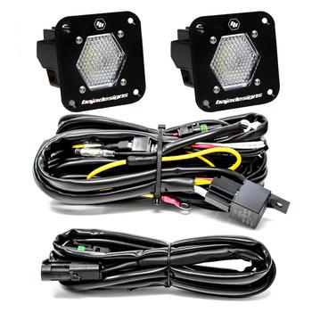 Baja Designs S1, Flush Mount, Pair LED Wide Cornering, Backup Kit