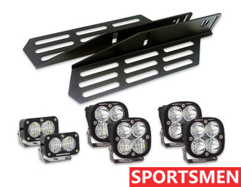 2017+ Ford Raptor Triple Fog Light Kit (w/Baja Designs Lights: Sportsmen)