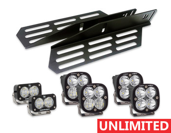 2017+ Ford Raptor Triple Fog Light Kit (w/Baja Designs Lights: Unlimited)