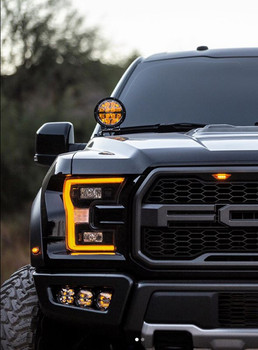 2017+ Ford Raptor Triple Fog Light Kit (w/Rigid Industries 360-Series)
