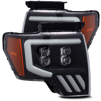 AlphaRex 09-14 Ford F150 NOVA-Series LED Projector Headlights, Black