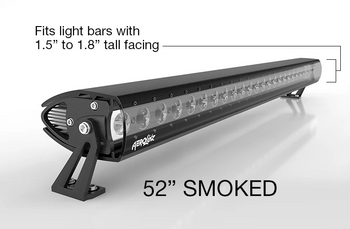"""Aerolidz Light Bar Cover - 50""""/ 52"""" - Smoked - Single Row"""