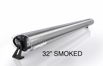 "Aerolidz Light Bar Cover - 30"" / 32"" - Smoked - Dual Row"
