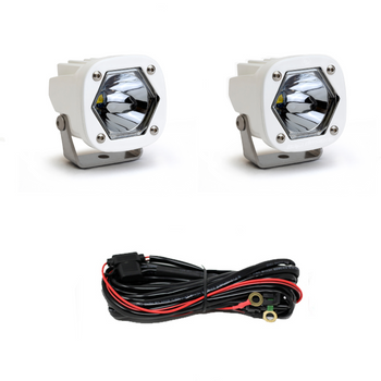 Baja Designs S1 LED, White, Pair, Spot