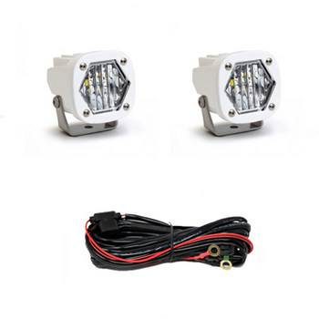 Baja Designs S1 LED, White, Pair, Wide Cornering