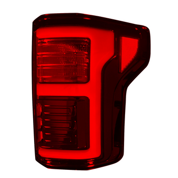 Recon Ford F150 15-17 & Raptor 17-20 Tail Lights OLED in Dark Red Smoked