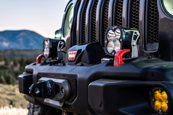 Baja Designs Jeep JL/JT Rubicon Steel Bumper XL Pro Light Kit (Toggle Switch)