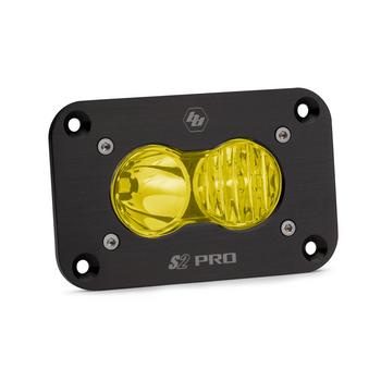 Baja Designs S2 Pro, Flush Mount, LED Driving/Combo, Amber
