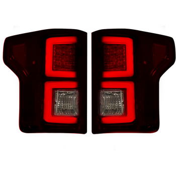 Recon Ford F150 18-20 OLED Tail Lights in Dark Red Smoked