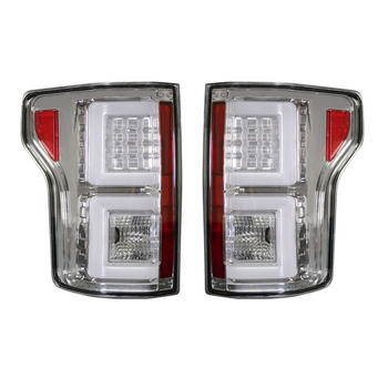 Recon Ford F150 18-20 OLED Tail Lights in Clear