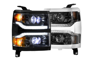 Morimoto XB LED Headlights for 2014-2015 Chevrolet Silverado 1500 (Chrome Trim)