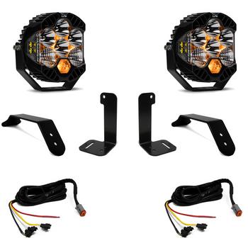 Baja Designs Jeep JL/JT Bumper Light Kit (Dual LP6 w/Upfitter)