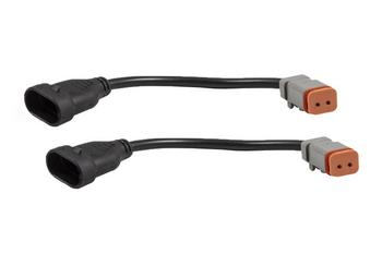 Diode Dynamics Deutsch DT Adapter Wires, 9006/9012/9005/H10/9145 (Pair)