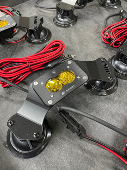 JDS Customs Suction Mounted Off-Road Follow Light w/S2 Sport Driving/Combo, Amber (Clearance)