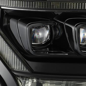 AlphaRex 15-17 Ford F150 / 17-20 F150 Raptor NOVA-Series LED Projector Headlights Mid-Night Black (Clearance)