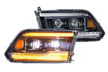 Morimoto XB LED Headlights for 2009-2018  Ram (Amber DRL)