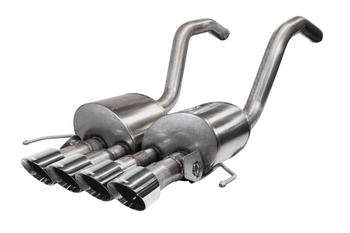 CORSA  Variable Sound Level (14777) 2.75 IN Axle-Back Quad 4.5 IN NPP Tips 2015-19 Corvette C7 Z06 ZR1 GS MT (Black Tips)