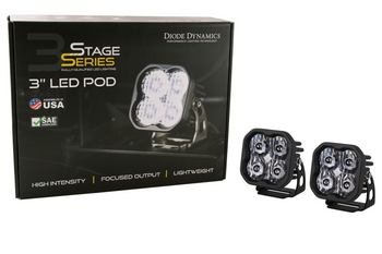 """Diode Dynamics Stage Series 3"""" Max White Combo Standard (Pair)"""