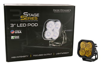 """Diode Dynamics Stage Series 3"""" Sport Yellow Combo Standard (Single)"""