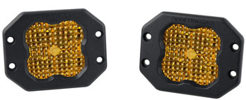 """Diode Dynamics Stage Series 3"""" Sport Yellow Flood Flush (Pair)"""