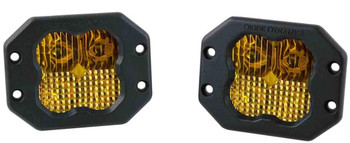 """Diode Dynamics Stage Series 3"""" Sport Yellow Combo Flush (Pair)"""