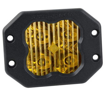 """Diode Dynamics Stage Series 3"""" Sport Yellow Driving Flush (Single)"""