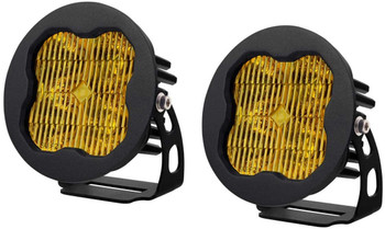 """Diode Dynamics Stage Series 3"""" Sport Yellow SAE Fog Round (Pair)"""