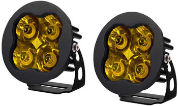 """Diode Dynamics Stage Series 3"""" Sport Yellow Spot Round (Pair)"""