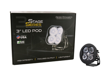 """Diode Dynamics Stage Series 3"""" Sport White SAE Driving Round (Single)"""
