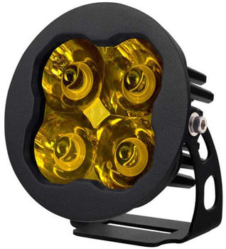 """Diode Dynamics Stage Series 3"""" Sport Yellow Spot Round (Single)"""