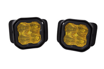 """Diode Dynamics Stage Series 3"""" Sport Yellow SAE Fog Type F2 Fog Kit (2015-2020 Ford F-150, 2017-2021 Ford F-250/F-350)"""