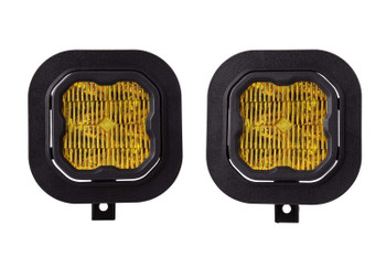 """Diode Dynamics Stage Series 3"""" Max Yellow SAE Fog Type SD Fog Kit (2011-2016 Ford F-250/F-350)"""
