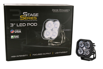 """Diode Dynamics Stage Series 3"""" Pro White Combo Standard (Single)"""
