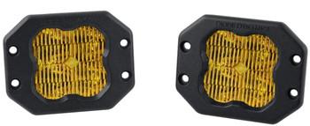 "Diode Dynamics Stage Series 3"" Pro Yellow SAE Fog Flush (Pair)"