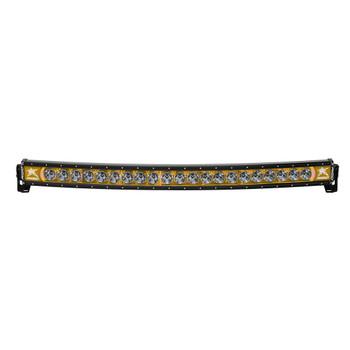 "Rigid Industries 40"" LED Light Bar Single Row Curved Amber Backlight Radiance Plus"