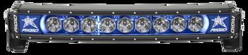 "Rigid Industries 20"" LED Light Bar Single Row Curved Blue Backlight Radiance Plus"
