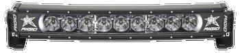 "Rigid Industries 20"" LED Light Bar Single Row Curved White Backlight Radiance Plus"
