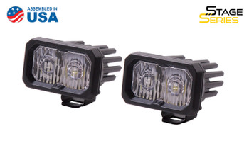 """Diode Dynamics Stage Series 2"""" LED Pod Sport White Driving Standard Amber Backlight"""