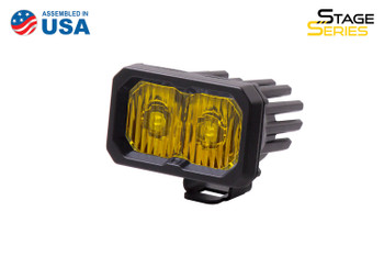 """Diode Dynamics Stage Series 2"""" LED Pod Sport Yellow Driving Standard Amber Backlight (Single)"""